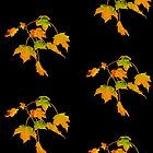 Leaves on leggings and t-shirts by Carolyn Clark