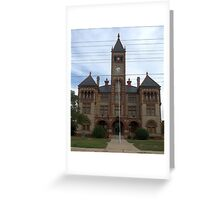 Dewitt Co Courthouse, Cuero, Tx. 1897 Greeting Card