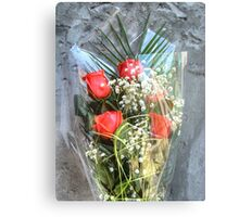 Bouquet with red roses 6 Canvas Print