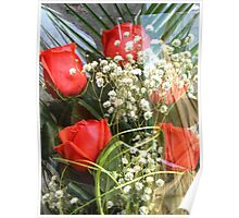 Bouquet with red roses 7 Poster