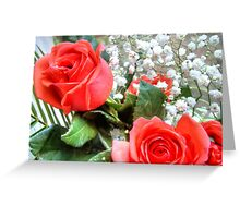 Bouquet with red roses 8 Greeting Card