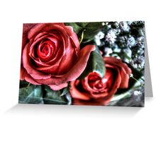 Bouquet with red roses 10 Greeting Card