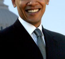 obama : us flag Sticker