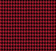Red and Black Houndstooth Check by Spiralenvy