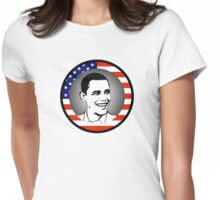 obama : us flag Womens Fitted T-Shirt