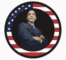 obama : us flag by asyrum