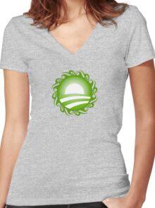 barack obama : tribal Women's Fitted V-Neck T-Shirt