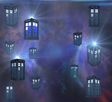 Tardis For Leggings by thunderossa
