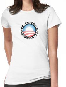 barack obama : tribal Womens Fitted T-Shirt