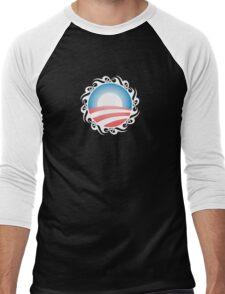 barack obama : tribal Men's Baseball ¾ T-Shirt