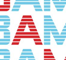 obama : text stacks Sticker