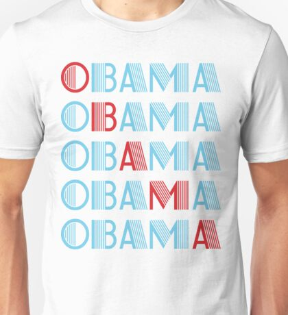 obama : text stacks Unisex T-Shirt