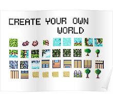 Create your own pixel art world! Poster