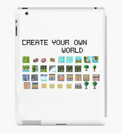 Create your own pixel art world! iPad Case/Skin