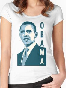 obama : verticle text Women's Fitted Scoop T-Shirt