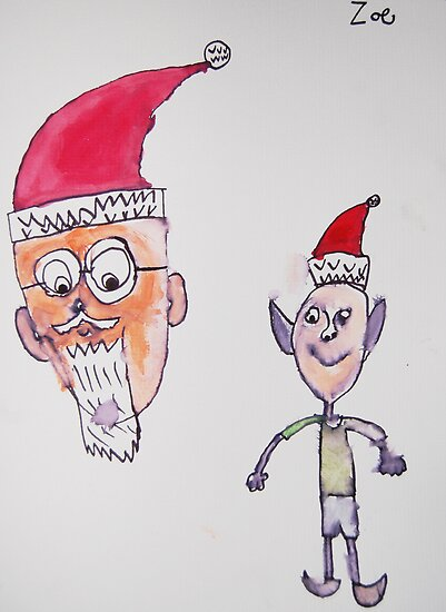 Elves get Bossed around by Santa by Zoe Thomas age 7 by Julia  Thomas
