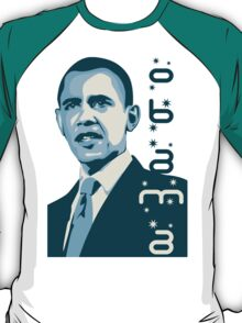 obama : verticle text T-Shirt