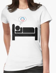 obama dreams Womens Fitted T-Shirt