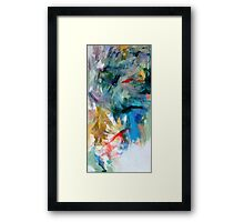 Crescendo , Abstract Leggings from original painting by Madeleine Kelly Framed Print