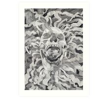 Grey Skull/In&OutOfExistence Art Print