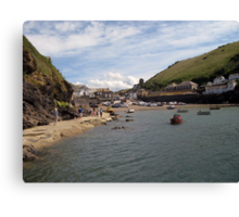 Enjoying Port Isaac - North Cornwall / England Canvas Print