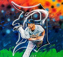 "Justin Verlander ""Smokin"" by Lanceman"