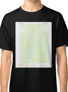 Maine USGS Historical Map St John Ponds 103004 1989 24000 Classic T-Shirt