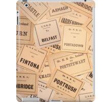 GREAT NORTHERN RAILWAY IRELAND LUGGAGE LABELS 1930'S-1940'S iPad Case/Skin