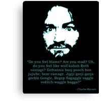 Manson Quote Canvas Print