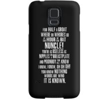 ASOIAF Phrases Samsung Galaxy Case/Skin