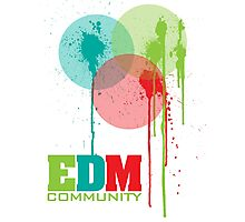EDM Community (interacting bubbles) Photographic Print