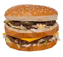 Cheese Burger in Polygons by rywhal
