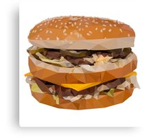 Cheese Burger in Polygons Canvas Print