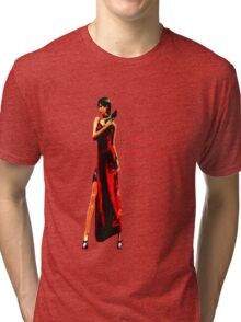 """""""Well, if it isn't the bitch in the red dress."""" Tri-blend T-Shirt"""
