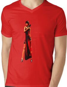 """""""Well, if it isn't the bitch in the red dress."""" Mens V-Neck T-Shirt"""
