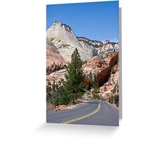 Into Zion Canyon Greeting Card