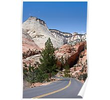Into Zion Canyon Poster
