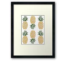 Pineapples (six) Framed Print