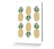 Pineapples (six) Greeting Card