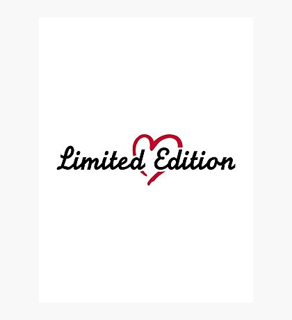 Limited Edition red heart Photographic Print