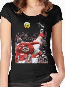 WAYNE ROONEY Women's Fitted Scoop T-Shirt