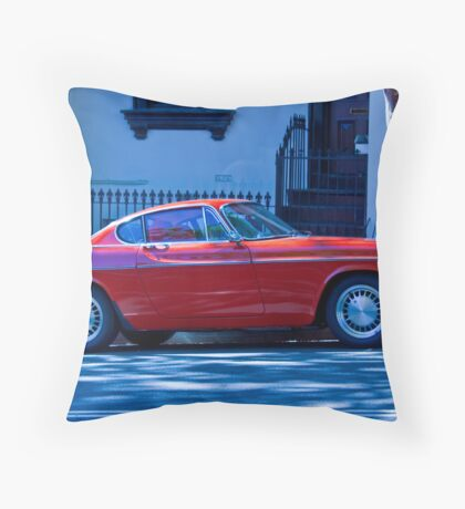 1966 Red Volvo Classic Throw Pillow