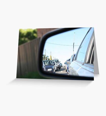 Traffic reflection  Greeting Card
