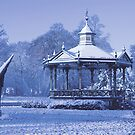Music Kiosk in the snow - in blue by steppeland