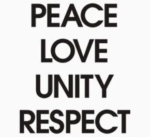 Peace Love Unity Respect (PLUR) by DropBass