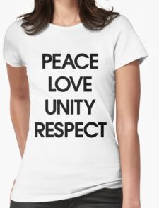Peace Love Unity Respect (PLUR) Womens Fitted T-Shirt