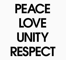 Peace Love Unity Respect (PLUR) Unisex T-Shirt