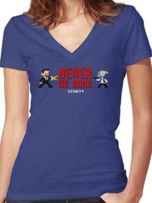 Never Go Back Women's Fitted V-Neck T-Shirt