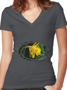Daffodil ~ Impressions Women's Fitted V-Neck T-Shirt