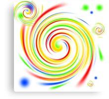 Color Swirls Canvas Print